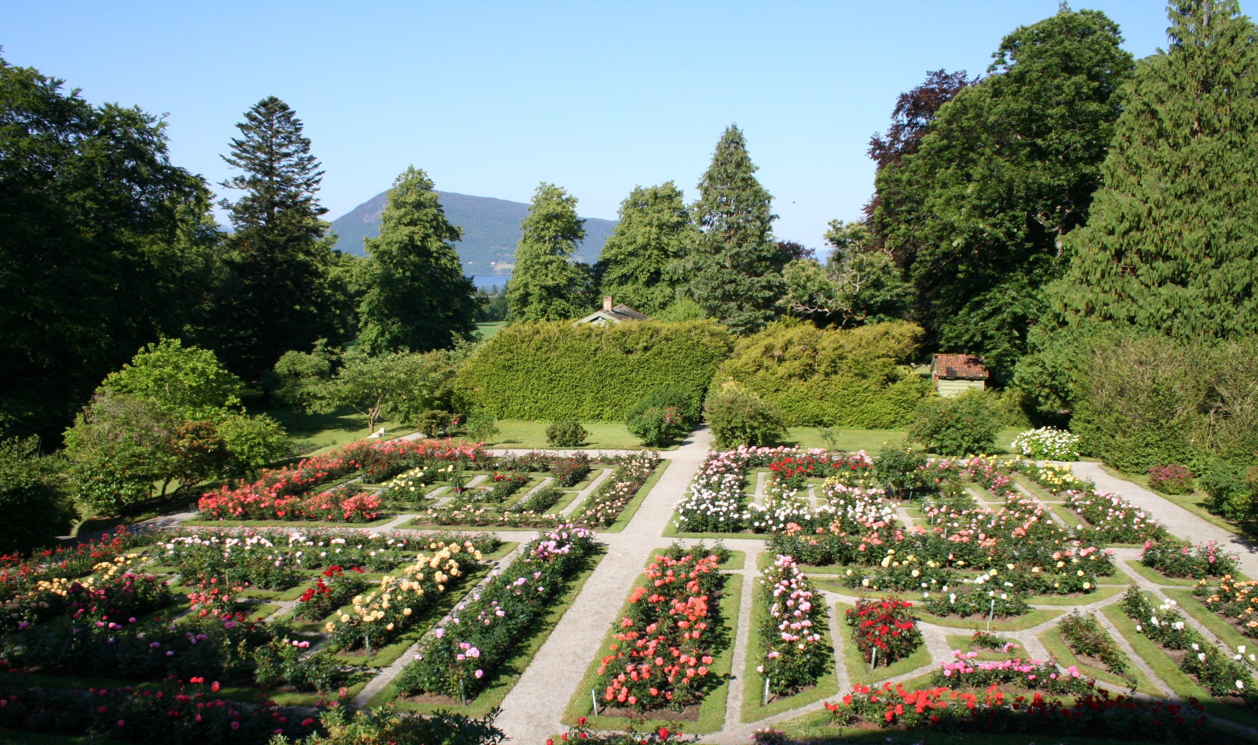 Some of the gardens are French and structured.