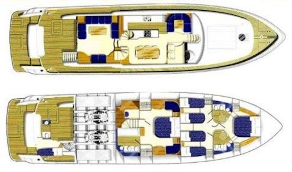 The boat's layout
